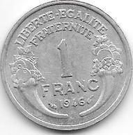 *france 1 Franc 1946  Km 885a.1 Xf+ - Francia