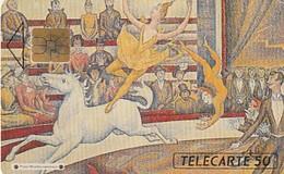 Rare Carte Téléphonique Exposition Seurat Le Cirque  20 000 Ex - France