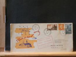 A9033  LETTRE  1957  1° VOL  PARIS - BRUXELLES PAR HELI SABENA - Airmail