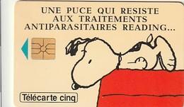 Rare Carte Téléphonique Traitement Antiparasitaires Snoopy 15 000 Ex - France