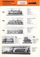 Catalogue INTERMODELL Kleinserien Neuheiten 1981.2 Spur HO HOm N Nn3 Z - Livres Et Magazines