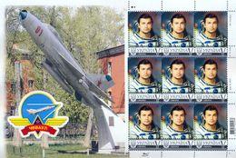 Ukraine 2017. Space, Sheetlet Of 9v - Ukraine