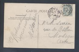 Ambulant Convoyeur Ligne Mamers à Mortagne 1905 Type 2 Indice 6 111 Blanc CP Environs De Bellème La Herse La Fontaine - Storia Postale