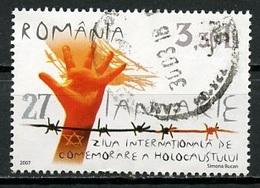 Roumanie - Rumänien - Romania 2007 Y&T N°5182 - Michel N°6162 (o) - 3,30l En Mémoire De L'holocauste - 1948-.... Repúblicas