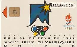 Rare Carte Téléphonique Jeux Olympiques D'Hiver Albertville  61 000 Ex - France