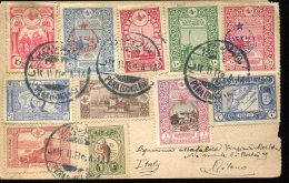 9898 Turkey,  Circuled Card 1922 To Italy, (see 2 Scan) - 1921-... Republic