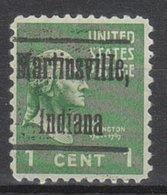 USA Precancel Vorausentwertung Preo, Locals Indiana, Martinsville L-2 HS - Vorausentwertungen