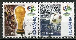 Roumanie - Rumänien - Romania 2006 Y&T N°5111 Et 5112 - Michel N°6086 Et 6087 (o) - Coupe Du Monde De Football - 1948-.... Repúblicas