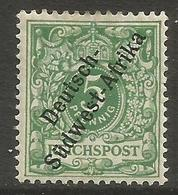 German SW Africa - 1897 Numeral 5pf MH *  Mi 2  Sc 2 - Colony: German South West Africa