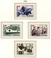 PIA - FINLANDIA  - 1964 : Centenario Della Croce Rossa Internazionale - (Yv 561-64) - Primo Soccorso