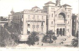TUNISIE TUNIS - LL 175 - La Cathédrale Vers La Gare Italienne - Animée - Belle - Tunisia