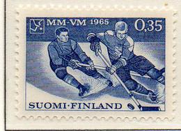 PIA - FINLANDIA - 1965 : Campionati Del Mondo Di Hockey Su Ghiaccio - (Yv 566) - Hockey (su Ghiaccio)