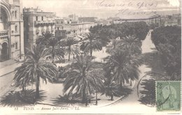 TUNISIE TUNIS - LL 13 - Avenue Jules Ferry - Belle - Tunisia