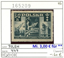 Polen - Poland - Pologne - Michel 444 - * Mh Charn. - 1944-.... República