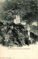 RUINE CAMPI UND TUNNEL DER ALBULABAHN - GR Grisons