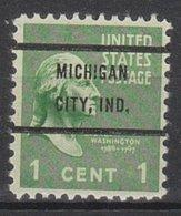 USA Precancel Vorausentwertung Preo, Bureau Indiana, Michigan City 804-72 - Vereinigte Staaten