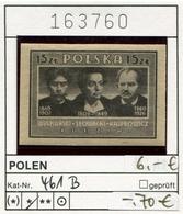 Polen - Poland - Pologne - Michel 461 B - * Mh Charn. - 1944-.... Republic