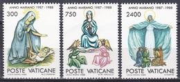 Vatikan Vatican 1988 Religion Christentum Heilige Maria Marianisches Jahr Kunst Arts Gemälde Paintings, Aus Mi. 940-5 ** - Vatikan