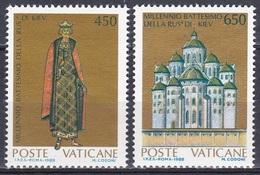 Vatikan Vatican 1988 Religion Christentum Christianisierung Kiew Wladimir Sophienkathedrale Churches, Aus Mi. 946-8 ** - Vatikan
