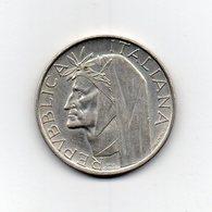 """ITALIA - 1965 - 500 Lire """"Dante Alighieri"""" - Argento 835 - Peso 11 Grammi - (MW2407) - 1946-… : Republic"""