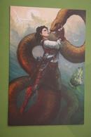Slavic Mythology - Grifon- Modern Russian Postcard - Dragon - Fairy Tales, Popular Stories & Legends
