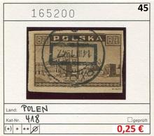 Polen - Poland - Pologne - Michel 418 - Oo Oblit. Used Gebruikt - 1944-.... Republic