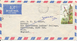 Kenya Air Mail Cover Sent To England 7-9-1984 Single Stamped (the Cover Is Light Bended) - Kenya (1963-...)