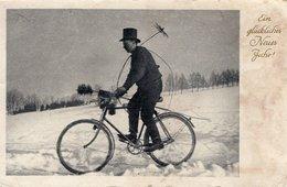 Ein Glückliches Neues Jahr - Kaminkehrer Auf Fahrrad 1940 ? - Neujahr