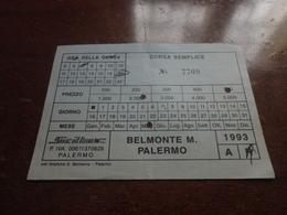 BIGLIETTO AUTOBUS BELMONTE MEZZAGNO-PALERMO - DITTA SICILBUS-1993 - Europa