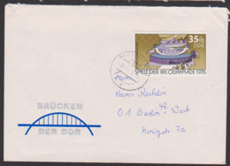 DDR Auslandsbrief 35+10 Pf. Spiele Der Olympiade 1976 Schiess-Sportoanlage Suhl - [6] République Démocratique