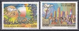 Vatikan Vatican 1988 Religion Christentum Persönlichkeiten Papst Päpste Popes Johannes Paul II. Weltreisen, Mi. 954-5 ** - Ungebraucht