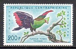CENTRAFRIQUE. PA 2 De 1960. Touraco. - Cuckoos & Turacos