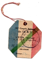 Lyon Congrés U.N.C 1930 Groupe Du Berry Ardonceau Maire De Sainte -Solange 18 - Alte Papiere
