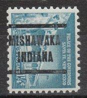 USA Precancel Vorausentwertung Preo, Locals Indiana, Mishawaka 205 - Vorausentwertungen