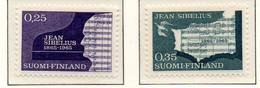 PIA - FINLANDIA  - 1965 : Centenario Della Nascita Del Musicista Jan Sibelius - (Yv 575-76) - Musica