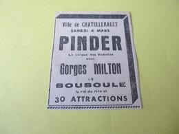 CIRQUE PINDER Le CIRQUE DES VEDETTES - VILLE DE CHATELLERAULT - ANNONCE DU 26 FEVRIER 1939. - Programmi