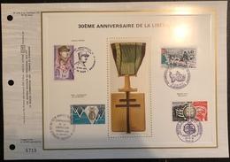 France Document - FDC - Premier Jour - Libération - 1974 - FDC