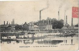 03 MONTLUCON SORTIE DES OUVRIERS DE ST JACQUES LAVANDIERES LINGE SECHANT - Montlucon