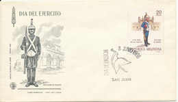 Argentina FDC 8-6-1968 Join The Army With Cachet - FDC