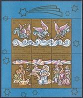 Vatikan Vatican 1988 Religion Christentum Weihnachten Christmas Engel Angels Ölzweig Olive Branch Hirten, Bl. 10 ** - Ungebraucht