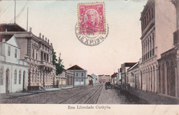 CPA Brésil/ Brazil - Curitiba - Rue Liberdade  - 1909 - Etat/condition Coin Gauche Corné - Curitiba