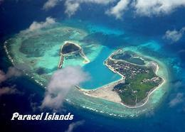 Paracel Islands Duncan And Palm Aerial View New Postcard - China