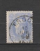 COB 31 Oblitération Centrale TROOZ - 1869-1883 Léopold II