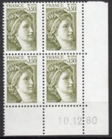 N° 2121 A - X X - Daté 10/12/80 - ( Gomme Tropicale ) - Dated Corners