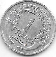 France 1 Franc 1948  Km 885a.1 Xf+ - Francia