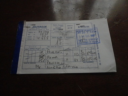 BIGLIETTO AEREO ALITALIA PALERMO ROMA PALERMO-1967 - Carte D'imbarco Di Aerei