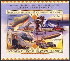 {SO17} Solomon Islands 2016 Aviation Zeppelin Airship LZ 129 Hindenburg Sheet Used / CTO - Solomon Islands (1978-...)