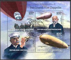 {CA46} Central African Republic 2013 Aviation Zeppelin Sheet Used / CTO - Central African Republic