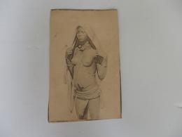 Photo 14,5cm/9cm Décor Oriental Souvenir D.A.O.F. Femme Seins Nus - Africa