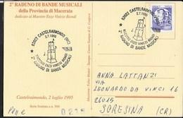 ANNULLO SPECIALE - CASTELRAIMONDO (MC) - 02.07.1995 - 2° RADUNO DI BANDE MUSICALI - SU CARTOLINA IN TEMA - Musique